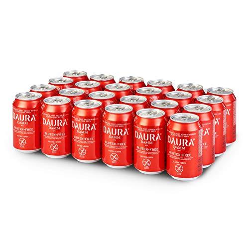 Damm - Cerveza Sin Gluten Daura, Pack de 24 Latas 33cl | Cerveza Para Celíacos, Gluten Free, en Lata, Cerveza Premiada de Alta Calidad