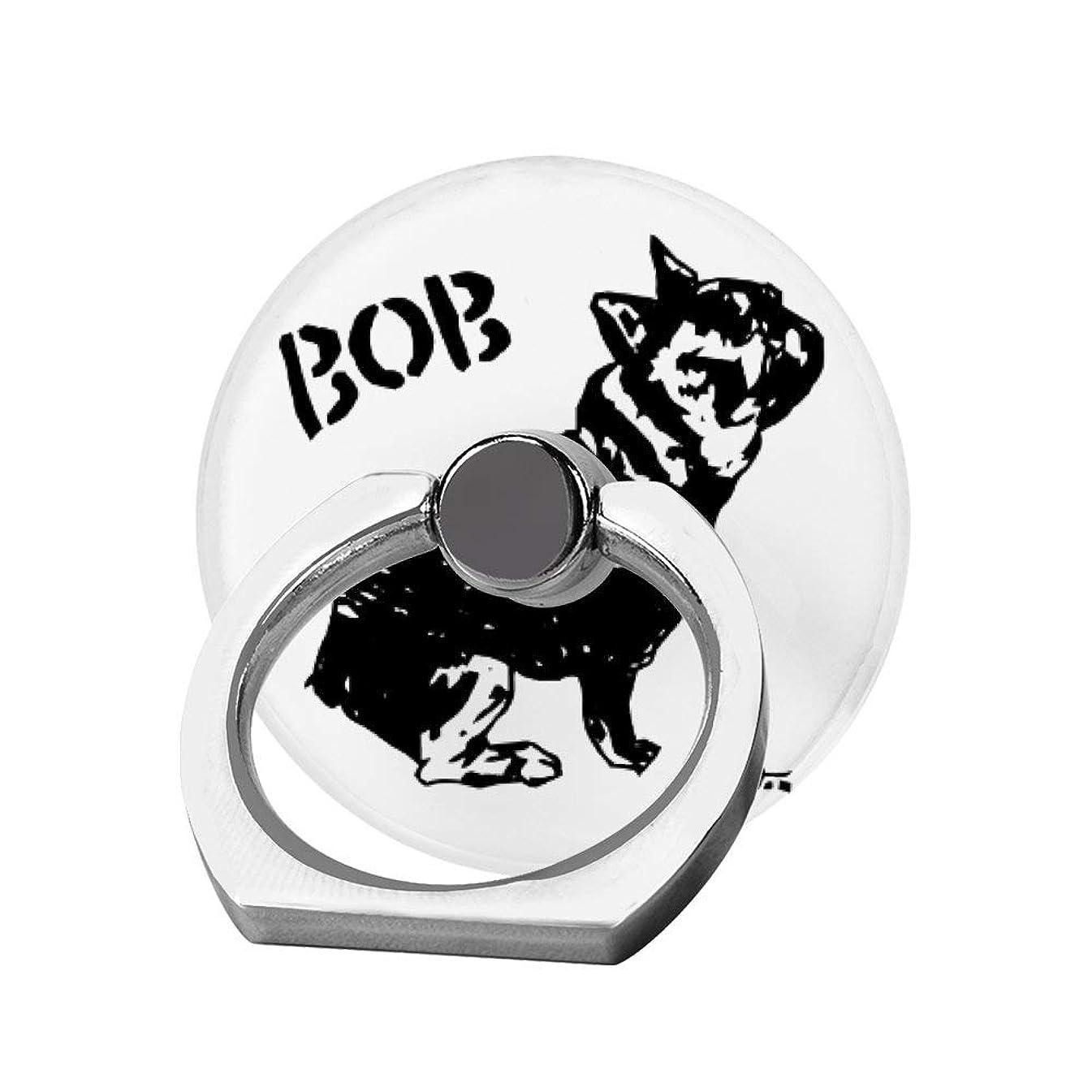 ダルセットゴールオーバーフロースマホリング 携帯リング 指リング 薄型 落下防止 スタンド機能 BOB ボブ ブルドッグ バンカーリング 指輪リング タブレット/各種他対応 360回転 スマホブラケット