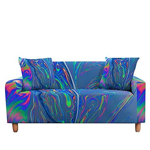 WXQY Funda de sofá elástica Funda de sofá con diseño de mármol Funda de sillón Totalmente Envuelta Funda de protección contra el Polvo A3 4 plazas