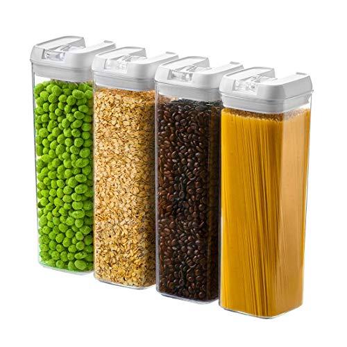 Numyton - Juego de recipientes herméticos con tapas de plástico duradero...
