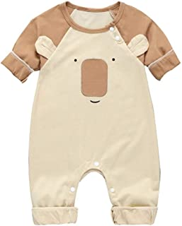 Infant Cute Bear Cartoon Romper Baby Long Sleeve Jumpsuit Boys&Girls Clothes Unisex Cotton Costume