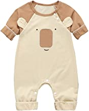 Aunimeifly Infant Cute Bear Cartoon Romper Baby Long Sleeve Jumpsuit Boys&Girls Clothes Unisex Cotton Costume