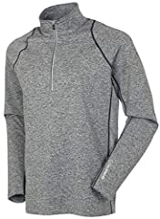 HALF ZIP MEN'S PULLOVER: Suitable to be worn as a top layer or base layer, the long sleeve pullover for men features a half zip neck and super lightweight stretch design. FREEDOM OF MOVEMENT: The Ultra-Light FX fabric has a good dose of spandex, so t...