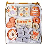 Wüfers Dog Birthday Girl Dog Cookie Box   Handmade Hand-Decorated Dog Treats   Dog Gift Box Made with Locally Sourced Ingredients   10+ Cookies