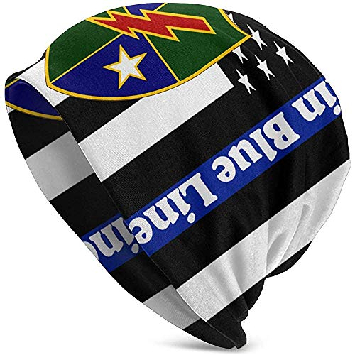 Maselia Gorras Beanie The Thin Blue Line Flag Gorra de Calavera Ranger del ejército de EE. UU.