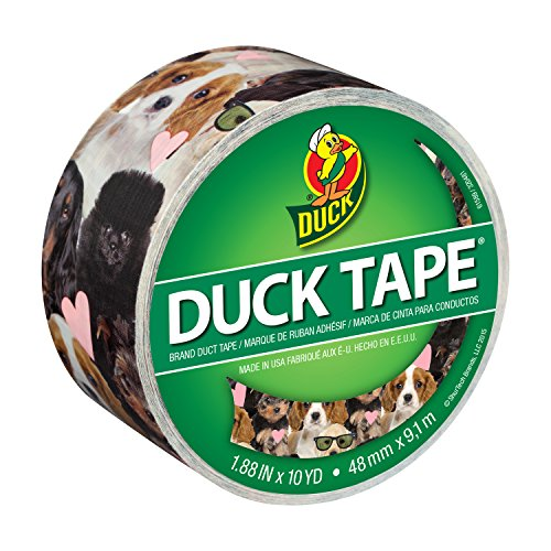 Duck 284172 Printed Duct Tape Single Roll, 1.88 Inches x 10 Yards, Puppy Dog Potpourri
