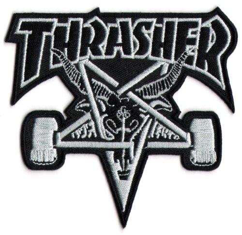 Thrasher Skateboard Magazine Punk Rock Music Skateboard Patch / Aufnäher, zum Aufbügeln oder Aufnähen, neu
