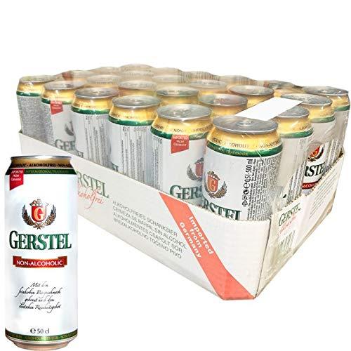 Gerstel Cerveza sin alcohol Alemana de 500ml - Caja de 24 Latas- TOTAL=12 L