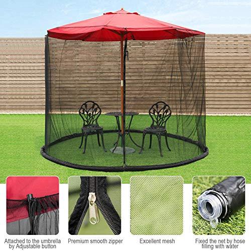 BWBG Mosquitera De Malla para Sombrilla De Jardín Al Aire Libre, Cubierta Mosquitos Patio Al Aire Libre Sombrilla Anti Mosquito Pantalla Mesa Sombrilla Al Aire Libre