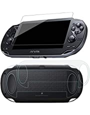 SNNC-JP PlayStation Vita 1000用 液晶保護フィルム ガラスフィルム 前後保護 9H高硬度 極薄 防塵 傷防止