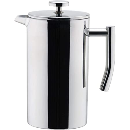 MIRA 12 oz Stainless Steel French Press Coffee Maker   Double Walled Insulated Coffee & Tea Brewer Pot & Maker   Keeps Brewed Coffee or Tea Hot   350 ml