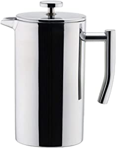 MIRA 12 oz Stainless Steel French Press Coffee Maker | Double Walled Insulated Coffee & Tea Brewer Pot & Maker | Keeps Brewed Coffee or Tea Hot | 350 ml