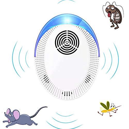 STRMSF Repelente Ultrasónico de Plagas, Repelente Ultrasónico Mosquitos Repelente Mosquitos Electrico para repeler Ratones de Interior, Mosquitos, cucarachas y pulgas, etc(6 Piezas)