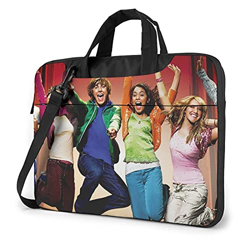 Laptoptasche für High School Musical Laptop Tasche Messenger Bag Ultra Portable Schutz Schulter Tablet Notebook Computer Tragetasche Gr. 40 cm, Schwarz