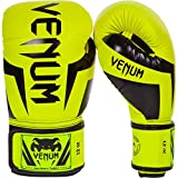 Venum Elite Boxing Gloves, Yellow, 12 oz
