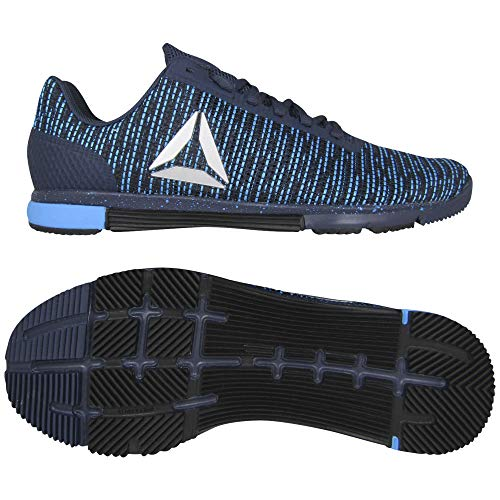 Reebok Speed TR FLEXWEAVE, Zapatillas de Deporte para Hombre, Azul Heritage Navy Bright Cyan Black 000, 44.5 EU