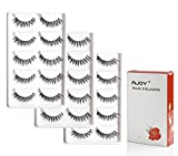 AJOY 15 Pairs 3 Styles Multipack Demi Wispies Fake Eyelashes, Natural Look Invisible Strip Lashes (R-15P)
