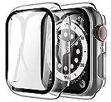 LK Compatible con Apple Watch SE Series 6 40mm Protector de Pantalla,2 Pack,PC Funda, Cristal Vidrio Templado