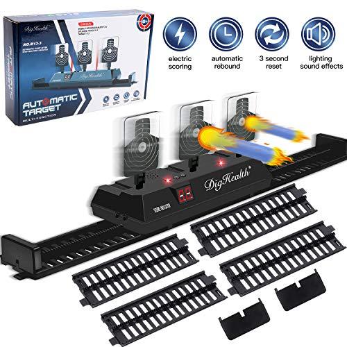 DigHealth Elektrische Mobil Zielscheibe für Nerf, Digitale Automatische Rücksetzung Elektro-Schießscheiben mit Hellem Soundeffekt für N-Strike Elite/Mega/Rival Series