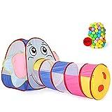 LIALIYA Los niños juegan Tiendas de campaña Jungle Gym w/Pop Tiendas, túneles y para niños, niñas, bebés y niños pequeños para Uso en Interiores y Exteriores,2