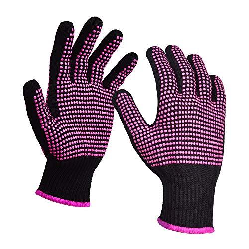 Hitzebeständige Handschuhe für das Haarstyling, Sopito 2 Stk Handschuhhandschuhe zum Haarwerkzeuge Lockenstab