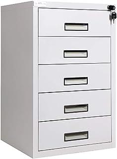 QSJY File Cabinets Armoire de classement à tiroirs verrouillables - Acier laminé à Froid 44 * 39 * 68CM (Couleur : A)