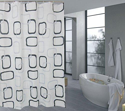 Polyester Duschvorhang-verdickte wasserdicht Schimmel am Duschvorhang Bad Dusche, Gardinen, Polyester wasserdicht Duschvorhang,W 180*200 h