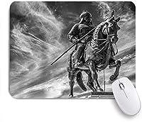 VAMIX マウスパッド 個性的 おしゃれ 柔軟 かわいい ゴム製裏面 ゲーミングマウスパッド PC ノートパソコン オフィス用 デスクマット 滑り止め 耐久性が良い おもしろいパターン (古代Fighureアンティーク真鍮戦争回戦士兵士彫刻騎士)