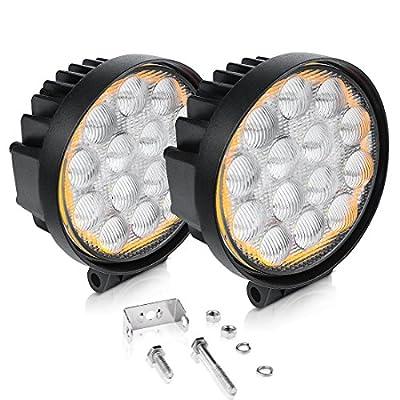 "AUTOSAVER88 5"" LED Offroad Pod Lights 60W Amber Round lights"