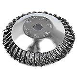 Cepillo desbrozadora de 150 x 25,4 mm - Actualizado Nuevo Modelo Cabezal de Corte de Hierba de Alambre de Acero, 6'' Cepillo redondo desbrozadora para Césped