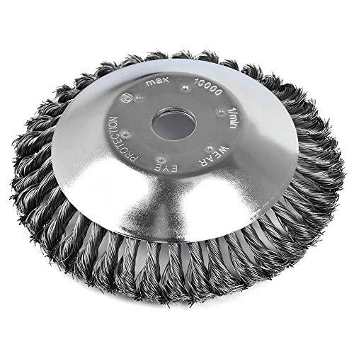 Cepillo desbrozadora de 200 x 25,4 mm - Actualizado Nuevo Modelo Cabezal de Corte de Hierba de Alambre de Acero, 8'' Cepillo redondo desbrozadora para Césped