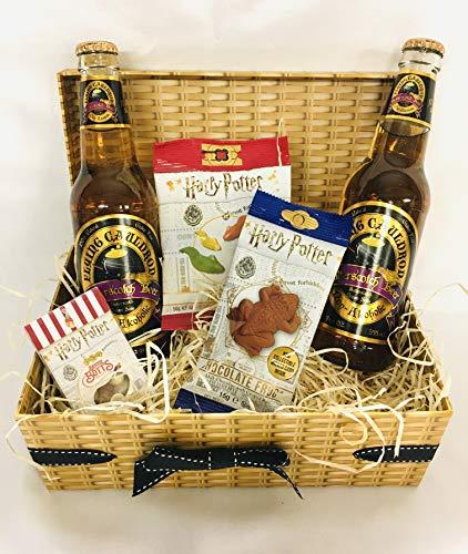 Harry Potter Sweet Hamper - Bertie Bott's Beans - Chocolate Frog - Jelly Slugs - 2 x Butterscotch Beer - American Gift Set