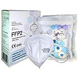 FFP2 Atemschutzmaske - Schachtel à 10 Stück CE-Zertifiziert mit verstellbarem Gummiband und anpassbarem Nasenbügel| 5 Filtrationsschichten, Schützt drinnen und draußen |QZY|