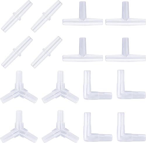 Pawfly Aquarium Airline Tubing Connectors Plastic Inline Valve, 40-Piece