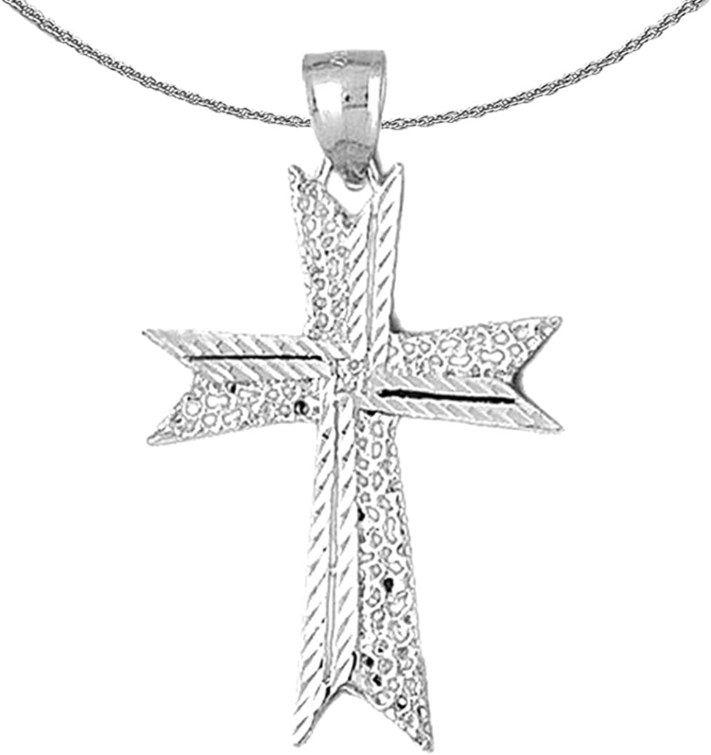 Jewels Obsession Gold Cross 14K Necklace Pend Max 61% OFF Special Campaign White