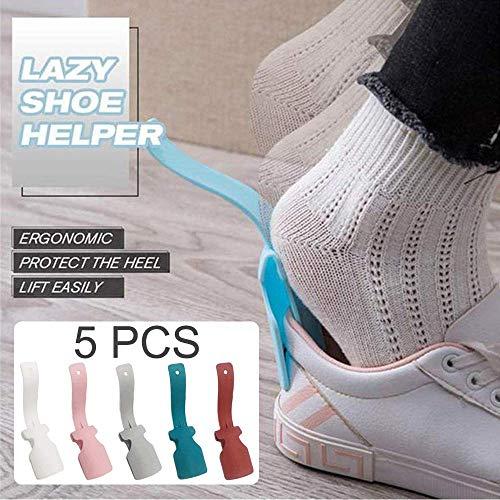 Lazy Shoe Helper, Schoenlepel,schoen laars hoorn Schoenhefhulp Plastic luie schoenen trekken Gemakkelijk aan Gemakkelijk uit Geschikt voor heren- en damesschoenen voor volwassenen