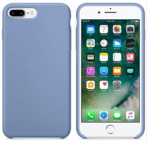 JLFDHR Funda de Silicona Oficial Original para Apple iPhone 7 8 6 6s Plus 5 5s SE Funda para iPhone 6 7 X XS MAX XR Funda de teléfono sin Logo-para iPhone 5 5s SE-Azure