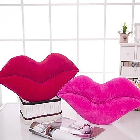 color rosa Kofun grandes labios coj/ín almohada peluche juguete mu/ñeca asiento de coche regalo del d/ía de San Valent/ín de 30/cm