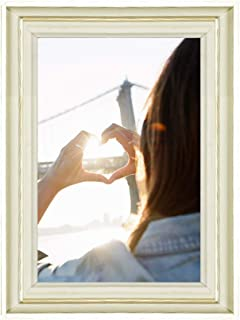Klinsten 8x10 Picture Frame White Elegant and Nice Design 8x10 Photo Display Photo Frame for Desk or Wall 1 Pack