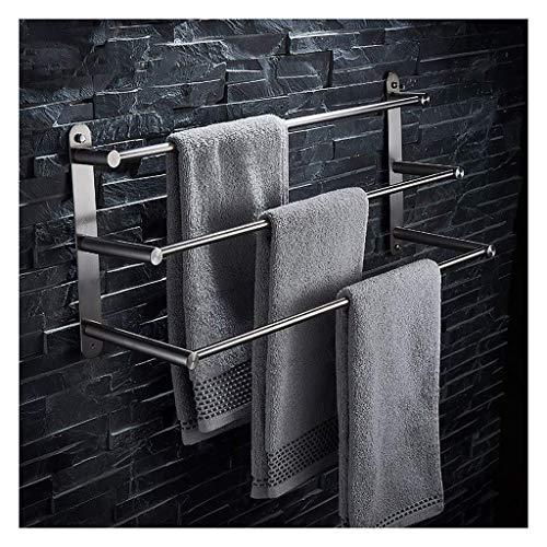 BYY Handtuchhalter 304 Edelstahl Gebürstet Multifunktionale Badezimmer Handtuchhalter 3-Tier Handtuchhalter Badetuchhalter Bad-Accessoires (größe : 100cm)