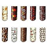 Set di carta di decorazione per alimenti colorati di trasferimento al cioccolato DIY (50 pz)