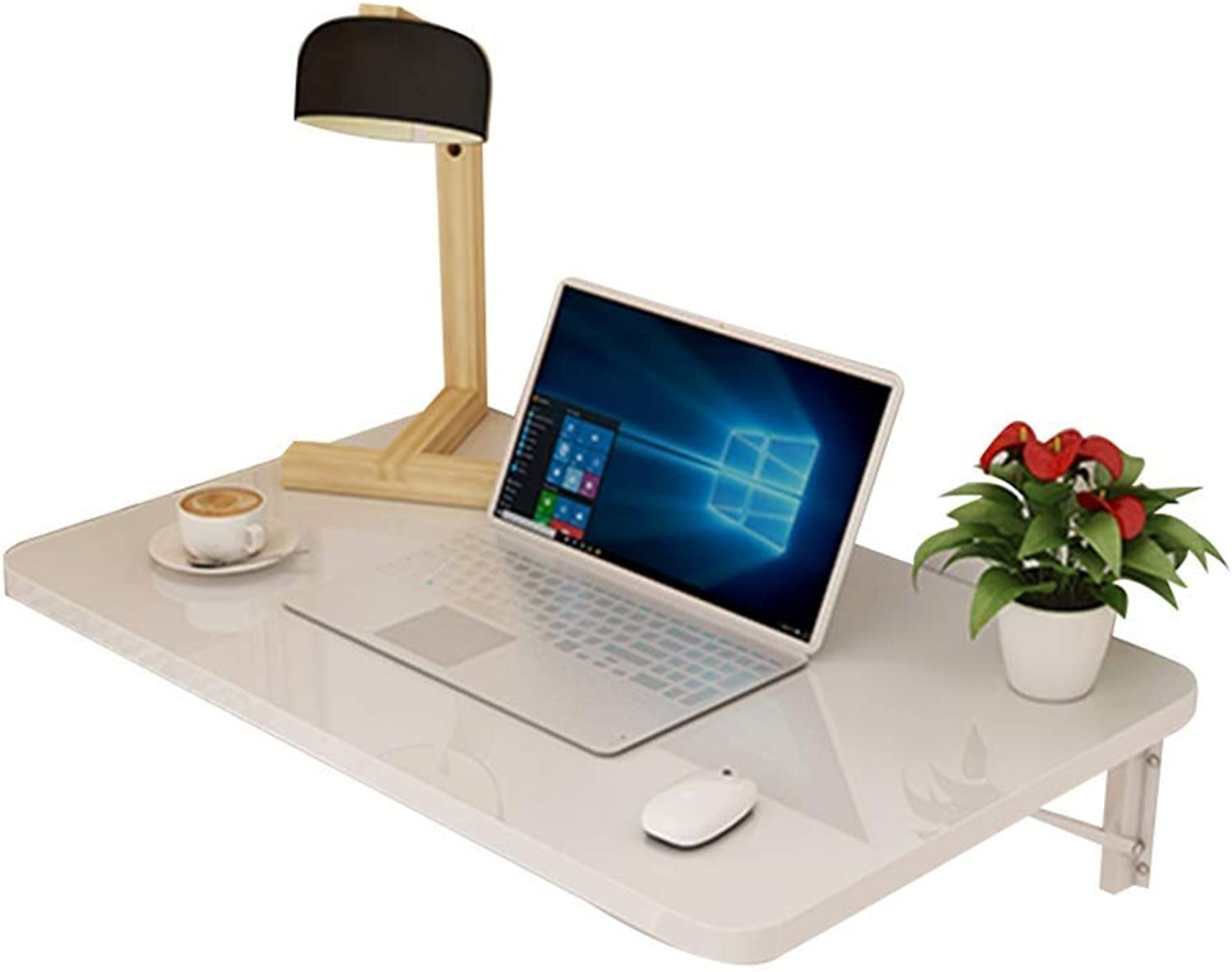 Paint Wall Hanging Table Table Table Wall Table Wall Table Wall Table Computer Table - White, 10 Sizes == (color   White, Size   60x40cm)