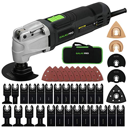 Best Review Of Oscillating Tool, GALAX PRO 2.4Amp 6 Variable Speed Oscillating Multi-Tool Kit with Q...