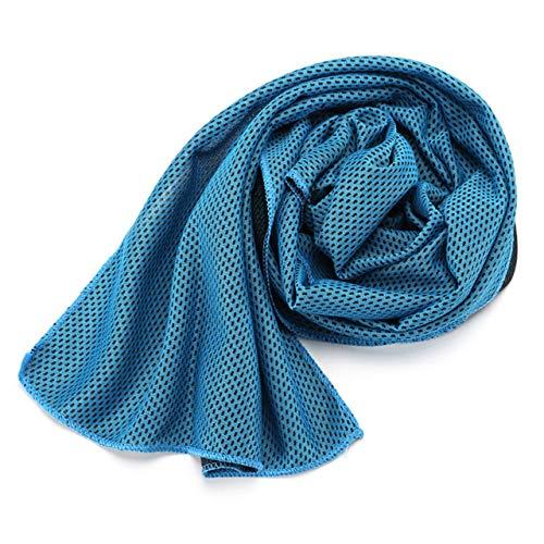 Mdsfe 1 stuk koude handdoek sneldrogend bad zwemmen sport lopen sneldrogend handdoek Ice Cooling Dry Fitnessstudio sport badhanddoeken voor volwassenen - hemelsblauw, A7
