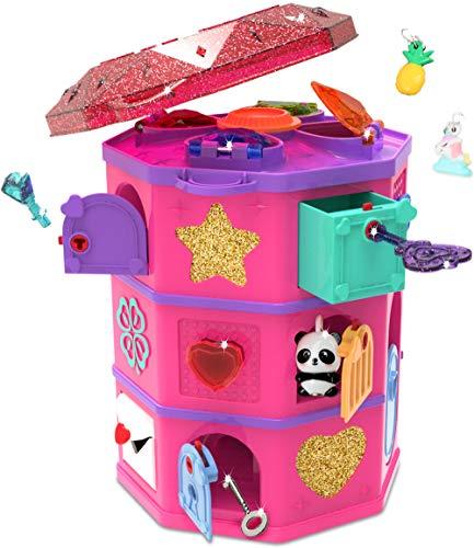 Funlockets S19700 Secret Surprise Escape Game Treasure Hunt Tower, encontrar las joyas, hacer sus propios encantos, emocionante rompecabezas y caja de joyería, edad 6 años más, multi