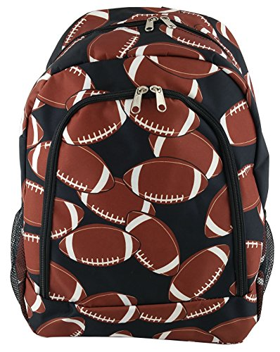 Brown Football School Backpack Book bags College Bags Travel Shoulder Bag with Adjustable Strap (NBN-31)