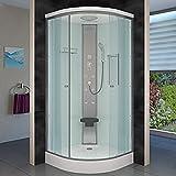AcquaVapore DTP10-0000 Dusche Duschtempel Duschkabine Fertigdusche 80×80, EasyClean Versiegelung:JA mit 2K Scheiben Versiegelung - 2