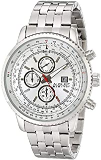 August Steiner Men's Silver Dial Stainless Steel Band Watch - AS8162WT