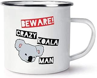 Beware Crazy Koala Man Retro Enamel 11 oz Ceramic Glossy Mug With C-handle - Australia
