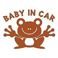 imoninn BABY in car ステッカー 【パッケージ版】 No.22 カエルさん (茶色)